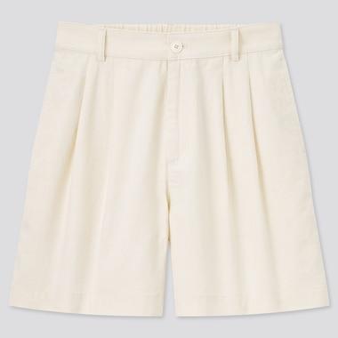 Women Linen Cotton Blend Shorts