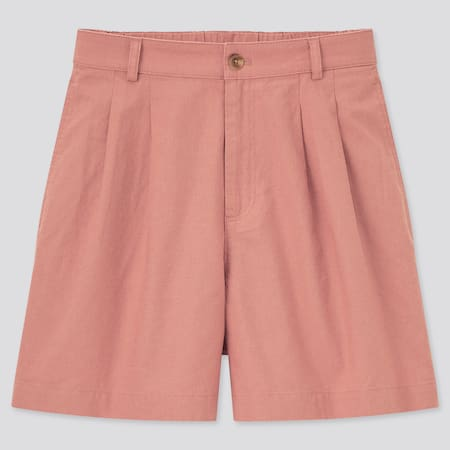 Shorts Lino Misto Cotone Donna