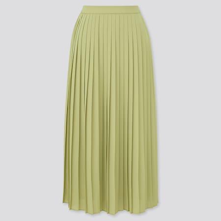 Women Chiffon Pleated Long Skirt