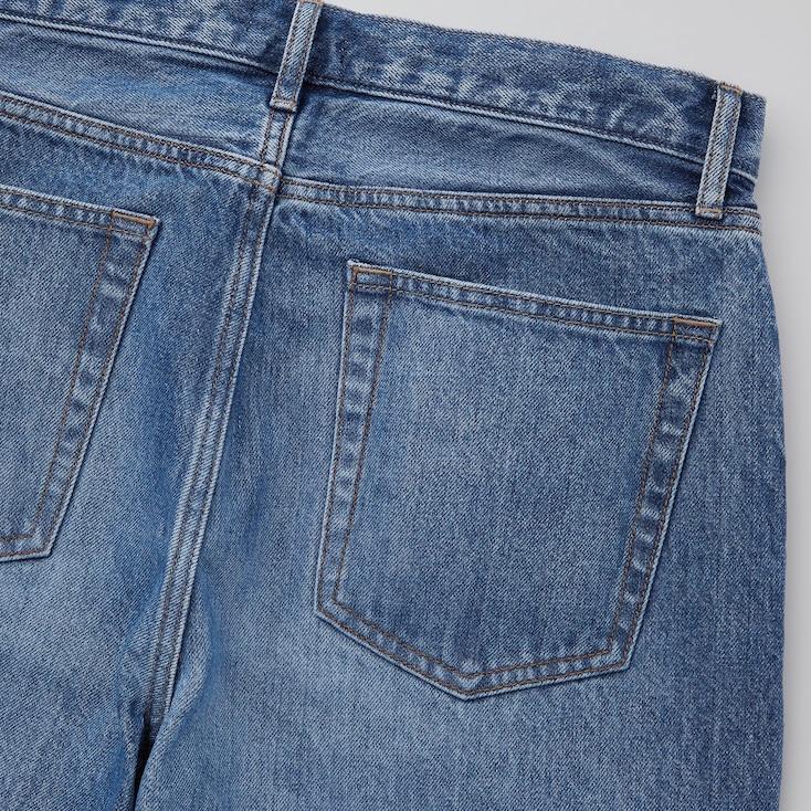 Men Regular-Fit Straight Jeans, Blue, Large