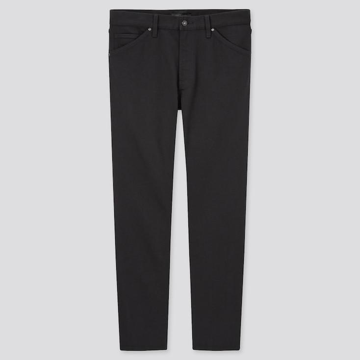 Men Tech Denim-Like Slim-Fit Jeans, Black, Large