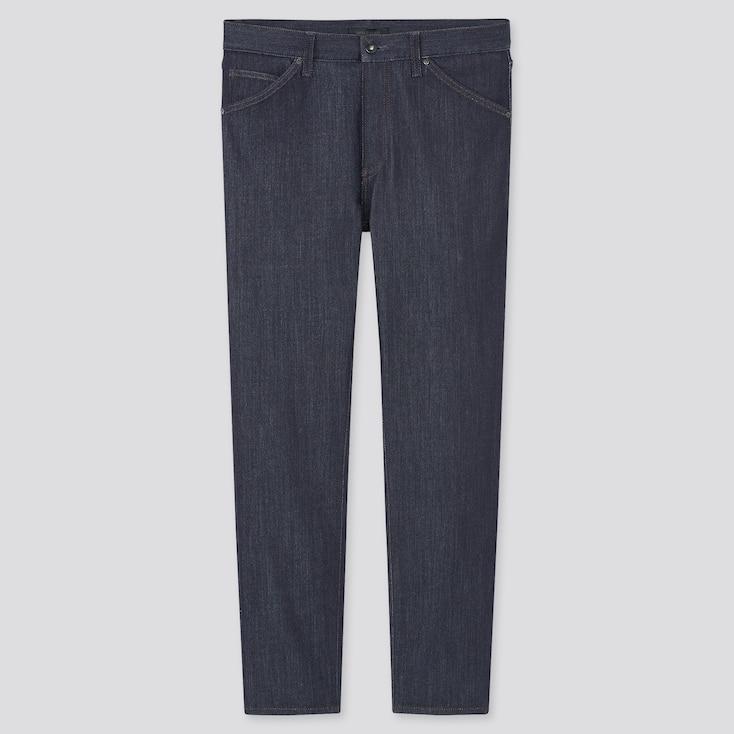 Men Tech Denim-Like Slim-Fit Jeans, Navy, Large