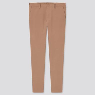 Men 2-Way Stretch Skinny-Fit Chino Pants, Orange, Medium