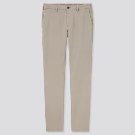 Men Cotton Stretch Slim Fit Chino Trousers