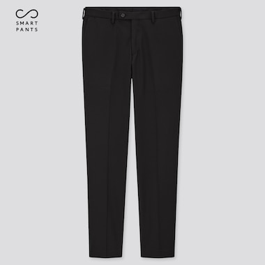 Men Smart 2-Way Stretch Ankle-Length Pants, Black, Medium