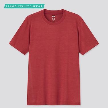 Men Dry-Ex Crew Neck Short-Sleeve T-Shirt, Red, Medium