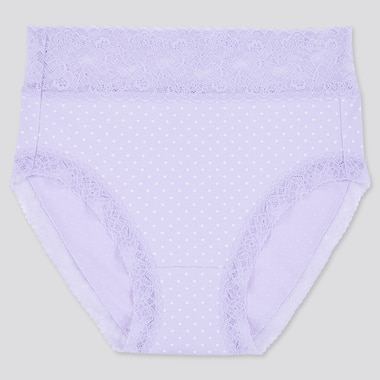 Women Dot High-Rise Briefs, Light Purple, Medium