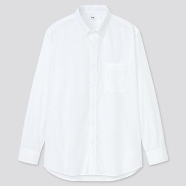 Men Extra Fine Cotton Broadcloth Long-Sleeve Shirt, White, Medium