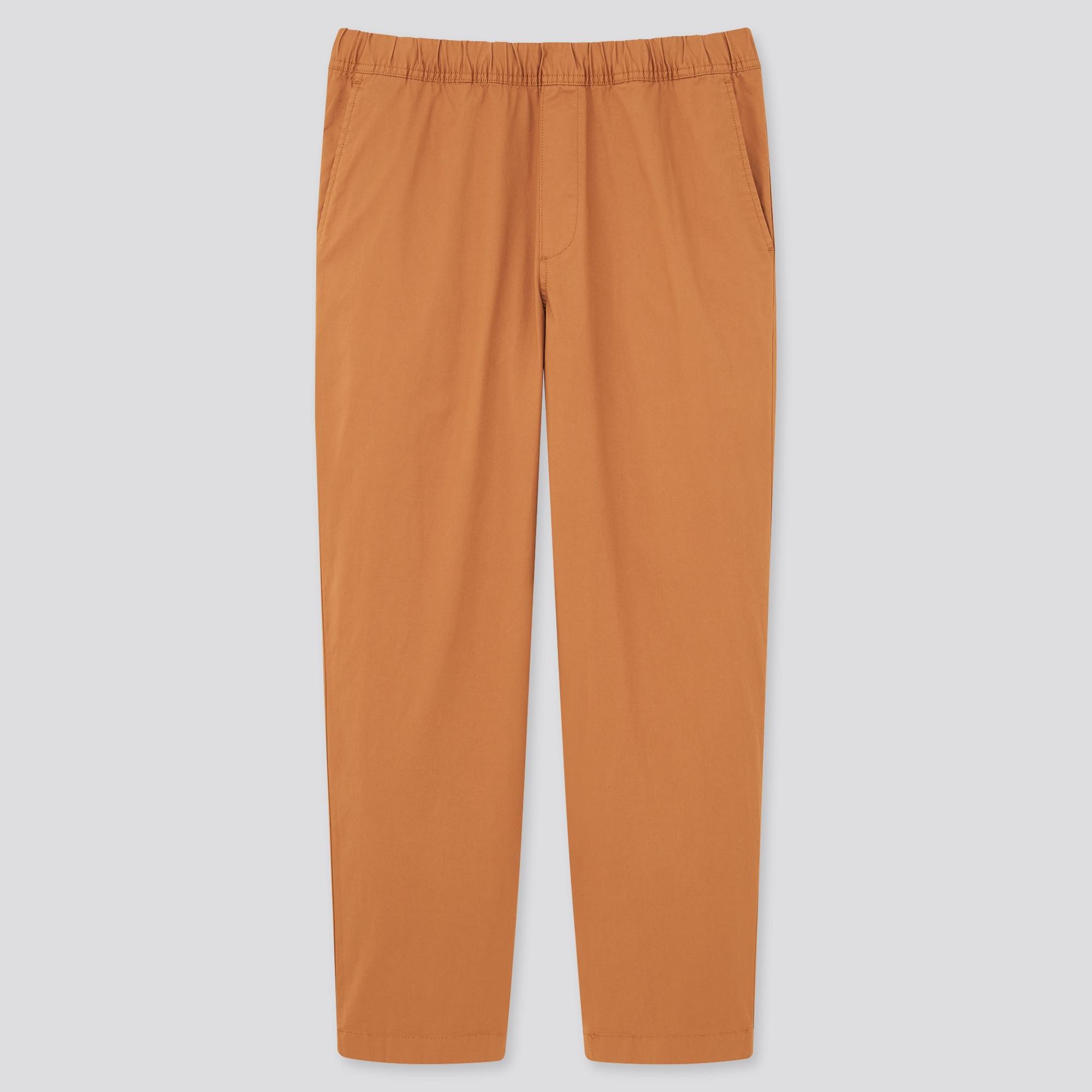 men cotton relaxed ankle pants : Color - 32 Beige, Size - M (433520)
