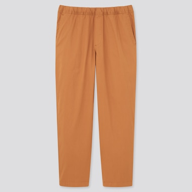 Men Cotton Relaxed Fit Ankle Length Trousers