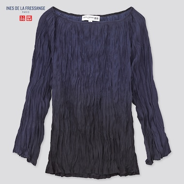 WOMEN Ines Twist Pleated 3/4 Sleeved Blouse