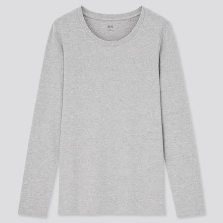Damen Baumwoll Langarmshirt mit Stretch