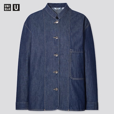 Women Uniqlo U Lightweight Denim Coverall