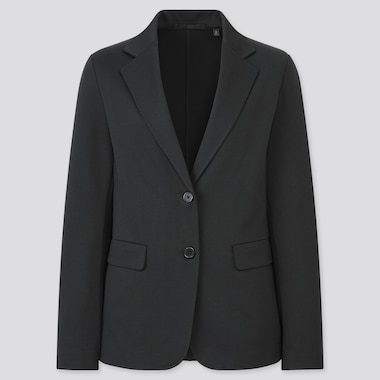 Women Jersey Blazer Jacket