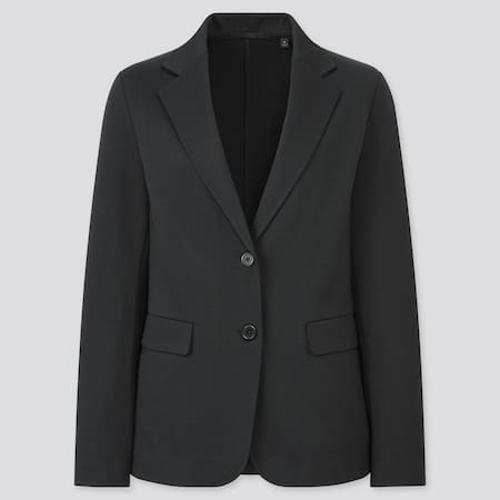 Women Jersey Blazer Jacket