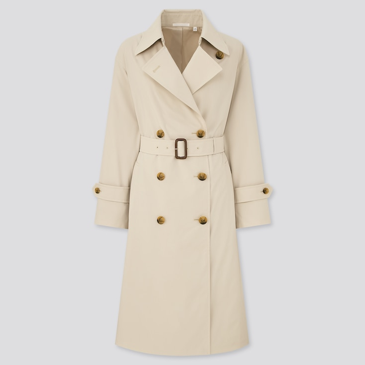Women Oversized Trench Coat, Natural, Large