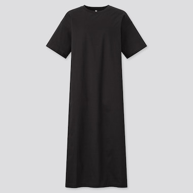 Women Mercerised Cotton Longline T-Shirt Dress