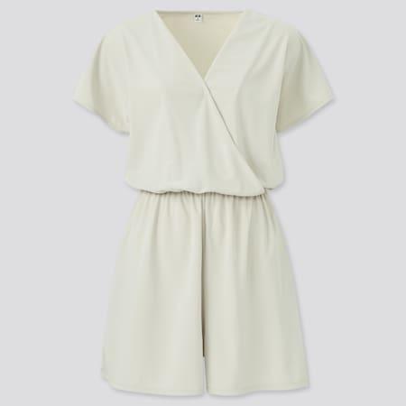 Combi-short en Jersey de Crêpe Femme