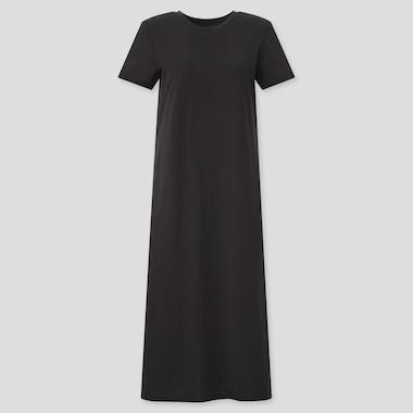 Damen Kurzärmliges langes AIRism Baumwoll BH-Kleid