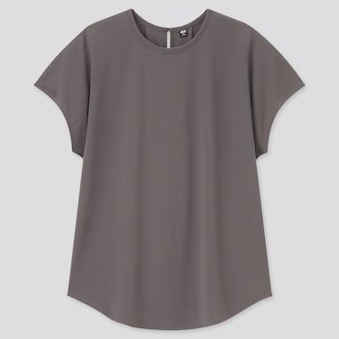 Damen Krepp Jersey T-Shirt mit französischen Ärmeln