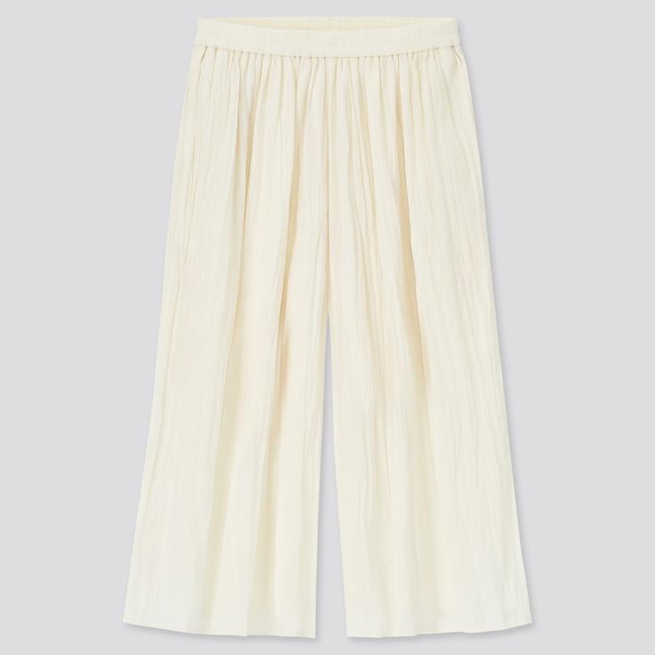 Girls Washer Skirt Pants, Off White, Large