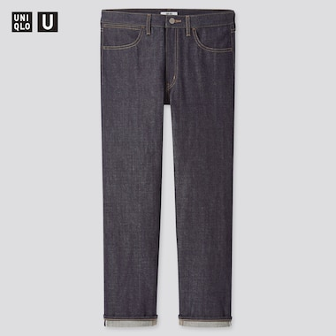 Men U Selvedge Regular-Fit Jeans, Navy, Medium