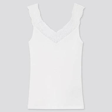 Camiseta Algodón Sin Mangas Canalé Encaje Mujer