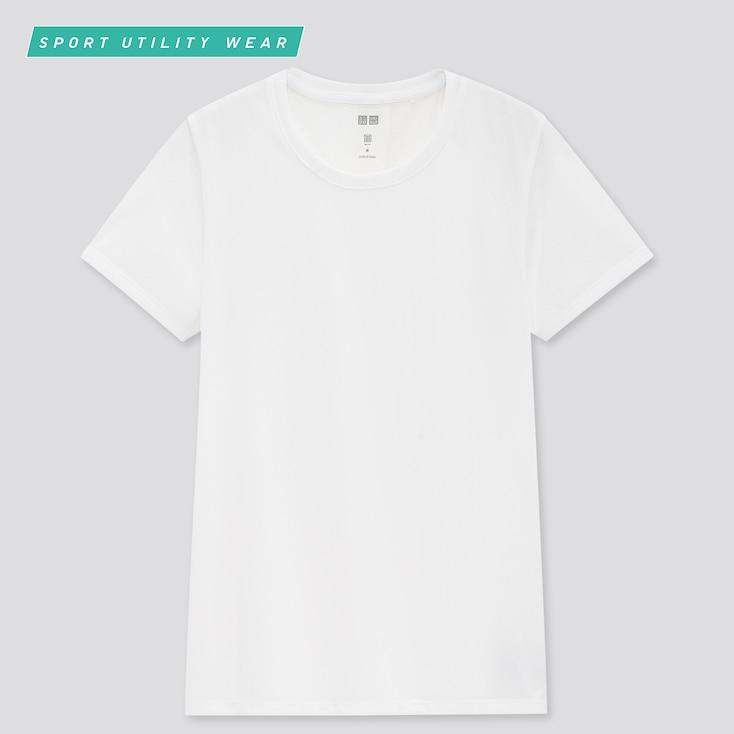 Women Dry-Ex Crew Neck Short-Sleeve T-Shirt, White, Large