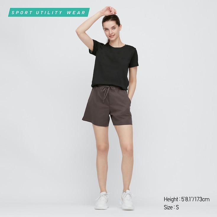 Women Dry-Ex Crew Neck Short-Sleeve T-Shirt, Black, Large