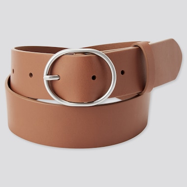 WOMEN Leather Oval Belt