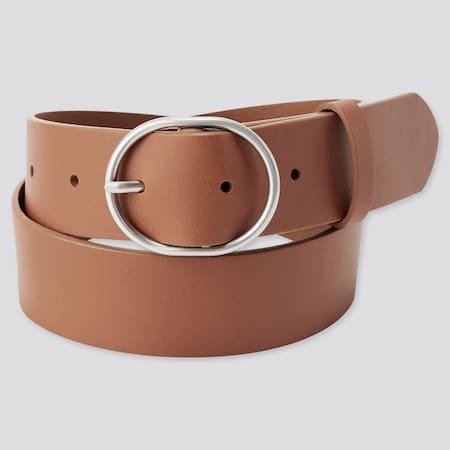 WOMEN Leather Oval Belt