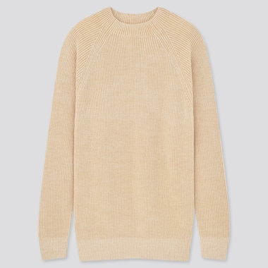 Washable Middle Gauge Knit Crew Neck Jumper