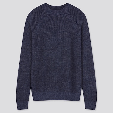 Men Washable Middle Gauge Knit Crew Neck Jumper
