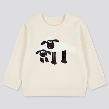 Toddler Shaun The Sheep Sweatshirt, Off White, Medium