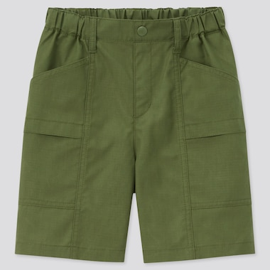 Kids Utility Shorts, Olive, Medium