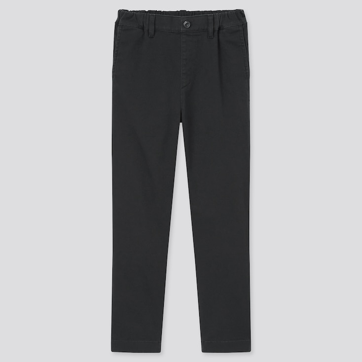 Kids Ultra Stretch Regular-Fit Pull-On Chino Pants (Online Exclusive), Black, Large