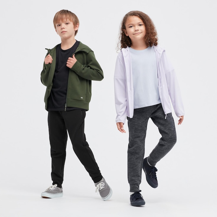 Kids Ultra Stretch Dry Sweatpants, Dark Gray, Large