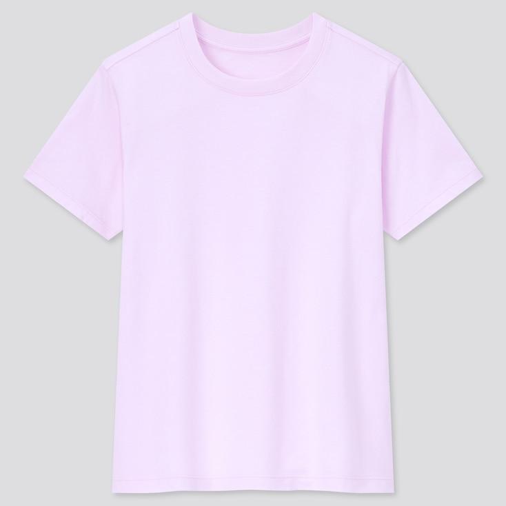 Kids Cotton Color Crew Neck Short-Sleeve T-Shirt, Pink, Large