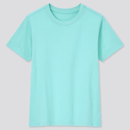 Kids 100% Cotton Colour Crew Neck T-Shirt