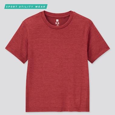 Kids Dry-Ex Crew Neck Short-Sleeve T-Shirt, Red, Medium