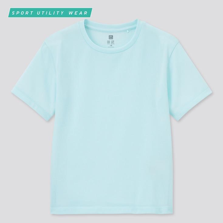 Kids Dry-Ex Crew Neck Short-Sleeve T-Shirt, Light Green, Large