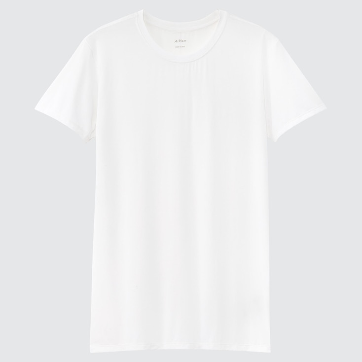 1940s Men's Shirts, Sweaters, Vests UNIQLO Mens Airism Crew Neck Short-Sleeve T-Shirt White XXL $14.90 AT vintagedancer.com