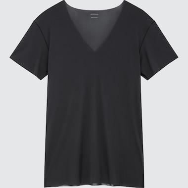 MEN AIRism Micro Mesh V Neck Short Sleeved T-Shirt