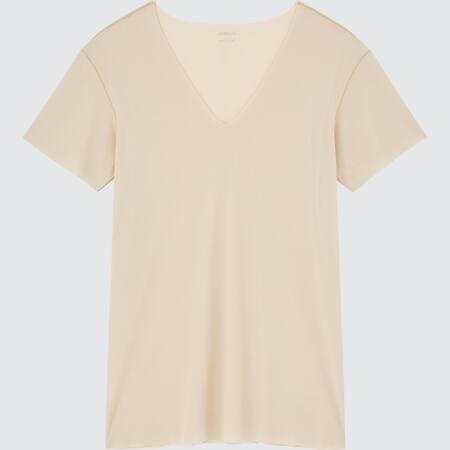 Herren AIRism Micromesh T-Shirt mit V-Ausschnitt