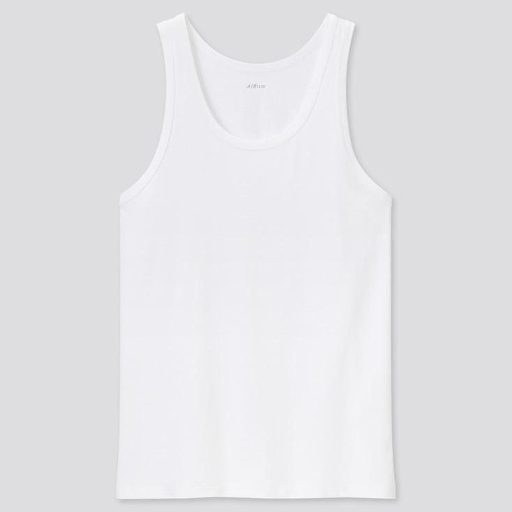 Men Airism Cotton Tank Top (Online Exclusive), White, Large
