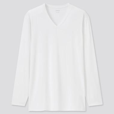 T-Shirt AIRism Collo A V Maniche Lunghe Uomo
