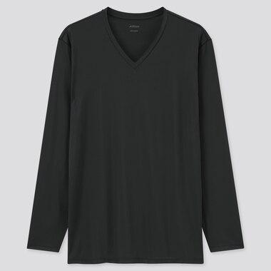 Men AIRism V Neck Long Sleeved T-Shirt