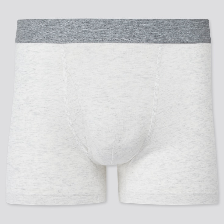 Men Supima© Cotton Boxer Briefs, Off White, Large