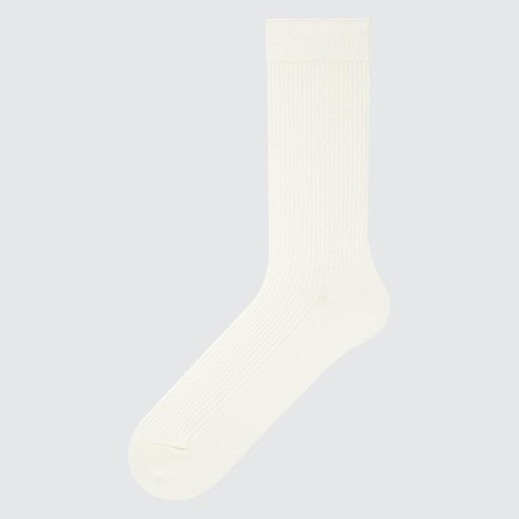 Men Color Socks, Off White, Large
