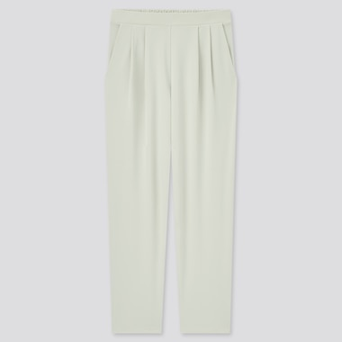 Women Crepe Jersey Tapered Pants, Light Gray, Medium